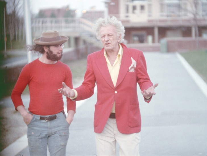 A scene from Nicholas Ray's WE CAN'T GO HOME AGAIN (1973/2011).