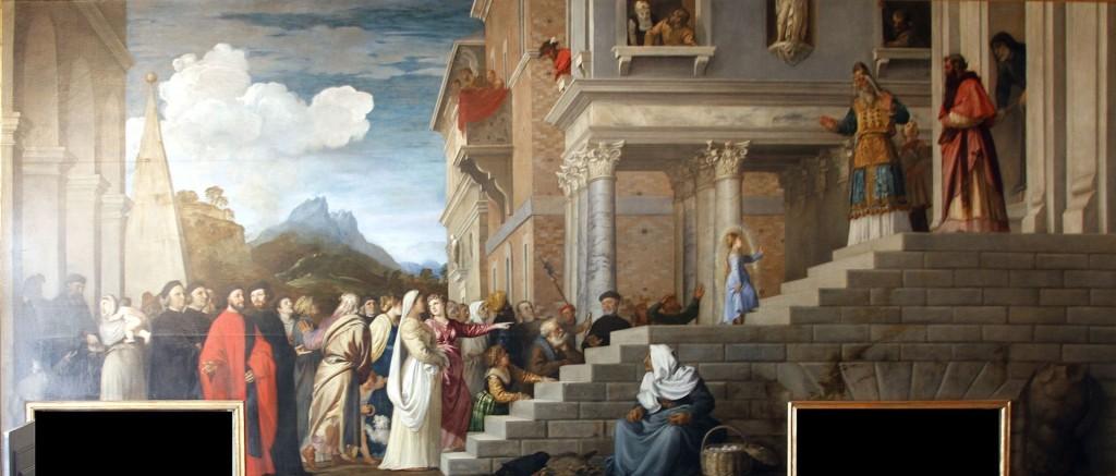 Präsentation der Jungfrau im Tempel von Tizian